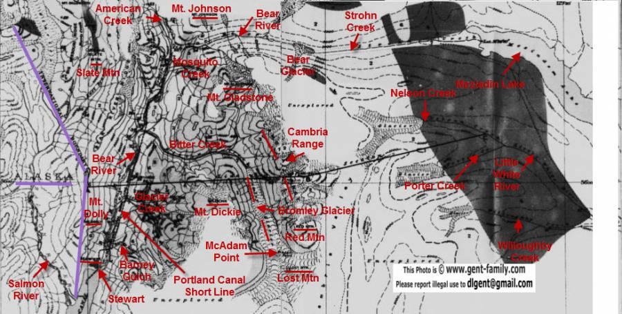 Mines in Stewart Area -