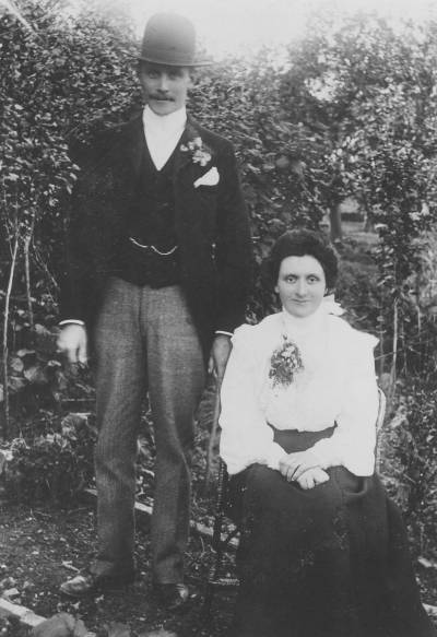 Percy and Fannie Gent, Oct 30, 1900, Yeovil-Marsh, Somerset, England