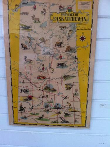 Map located in Carlyle Rusty Relics Museum